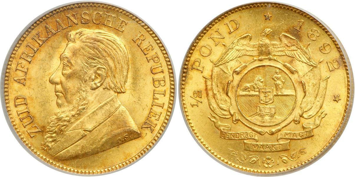 Paul Kruger coins covering 1892 to 1898